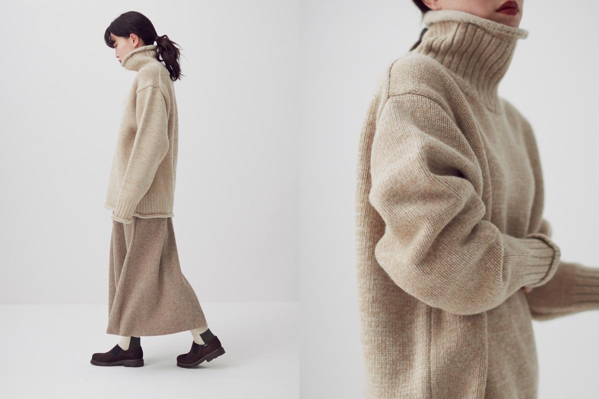 Ramwool cashmere nep knit