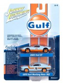 新品 JLPK004B Johnny Lightning 1/64  Ford Gulf 2台セット